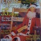 Create & Decorate Magazine Dec 07 Rug Hooking Punch Needle Paint Stitching