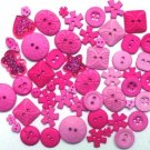 HOT PINK scrapbooking buttons by Dress It Up/ Jesse James (lot# 002)