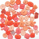 CORAL scrapbooking buttons by Dress It Up/ Jesse James (lot# 005)