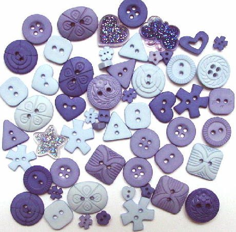 PERIWINKLE scrapbooking buttons by Dress It Up/ Jesse James (lot# 008)