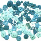 TURQUOISE scrapbooking buttons by Dress It Up/ Jesse James (lot# 009)