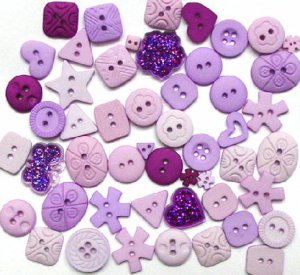 LILAC scrapbooking buttons by Dress It Up/ Jesse James (lot# 011)