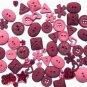 MAUVE scrapbooking buttons by Dress It Up/ Jesse James (lot# 012)