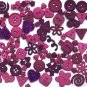 PLUM scrapbooking  buttons by Dress It Up/ Jesse James (lot# 013)