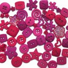 BERRY scrapbooking buttons by Dress It Up/ Jesse James (lot# 014)
