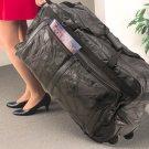 Leather Rolling Duffel Bag