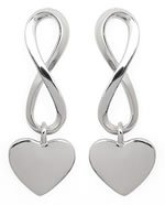 Twisted 8s Heart Earrings