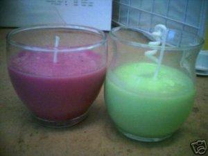 Ten Soy Wax Votive Candles Cranberry