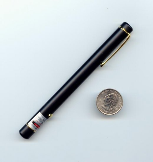 Atlasnova 650nm RED Laser Pointer - Black With Gold