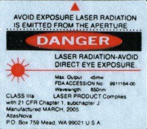 Atlasnova 650nm RED Laser Pointer - All Black