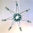 7 Tip 3D Silver Star Christmas Ornament Glass Garland