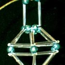 Glass Garland Beads & Tubes Cage Christmas Ornament
