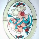 Glass Angel Painted Stain Glass Suncatcher