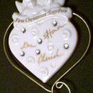 Porcelain Heart Our First Christmas Ceramic Ornament