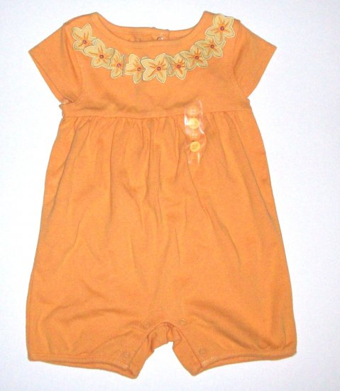 GYMBOREE NWT Little Keiki Orange Romper 3-6m