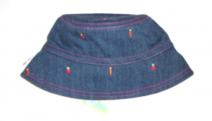 GYMBOREE NWT Grown With Love Denim Hat 18m-3T