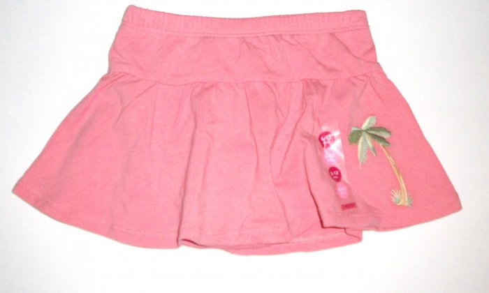 GYMBOREE NWT Aloha Wahine Pink Knit Skirt 6-12m