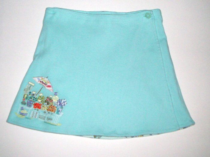 GYMBOREE NWT Bonjour Provence Rev. Knit Skirt 4