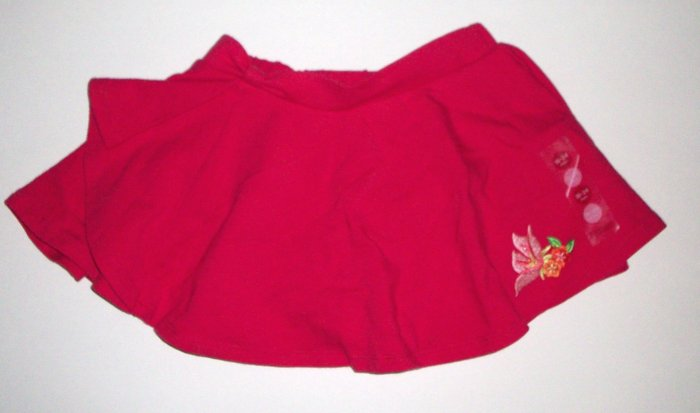 GYMBOREE NWT Tropical Paradise Red Knit Skirt 18-24m