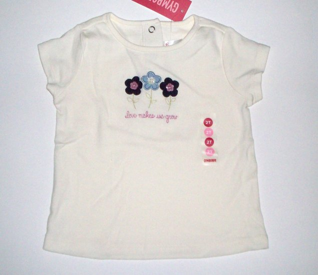 "GYMBOREE NWT Chelsea Girl ""love makes us grow"" Top 2T"