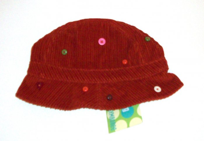 GYMBOREE NWT Cute as a Button Corduroy Hat 6-18m