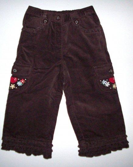 GYMBOREE NWT Mountain Cabin Brown Pants 18-24m