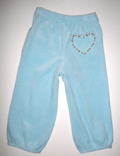 GYMBOREE NWT Mountain Cabin Blue Velour Pants 2T
