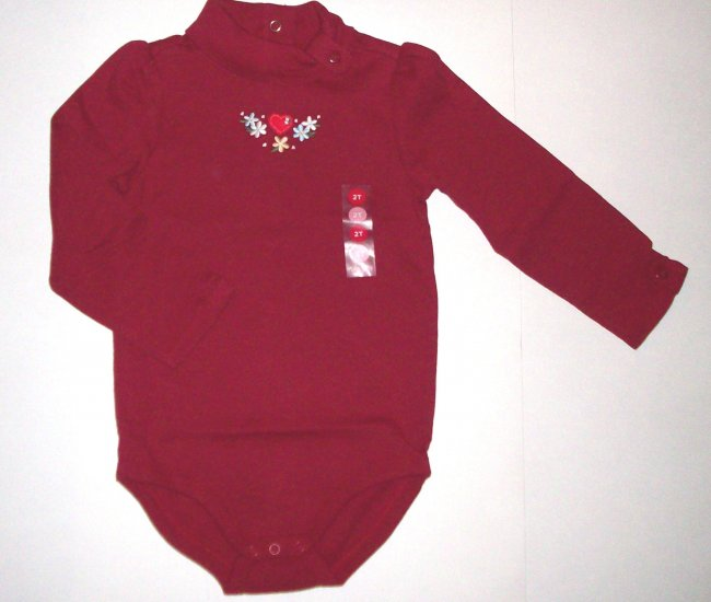 GYMBOREE NWT Mountain Cabin Red Bodysuit 2T