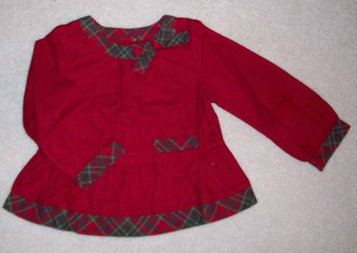 GYMBOREE NWT Mountain Cabin Plaid Swing Top 2T