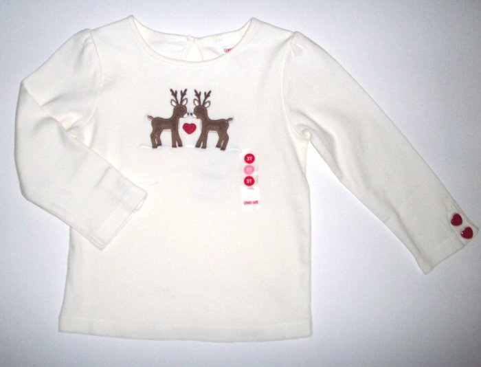GYMBOREE NWT Mountain Cabin Deer Top 2T