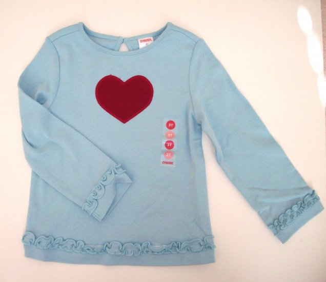 GYMBOREE NWT Mountain Cabin Heart Swing Top 3T