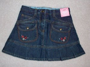 GYMBOREE NWT Mountain Cabin Denim Skirt 4
