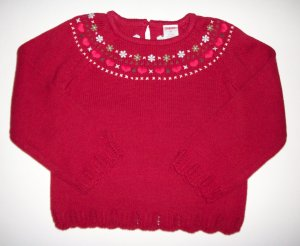 GYMBOREE NWT Mountain Cabin Red Sweater 4T