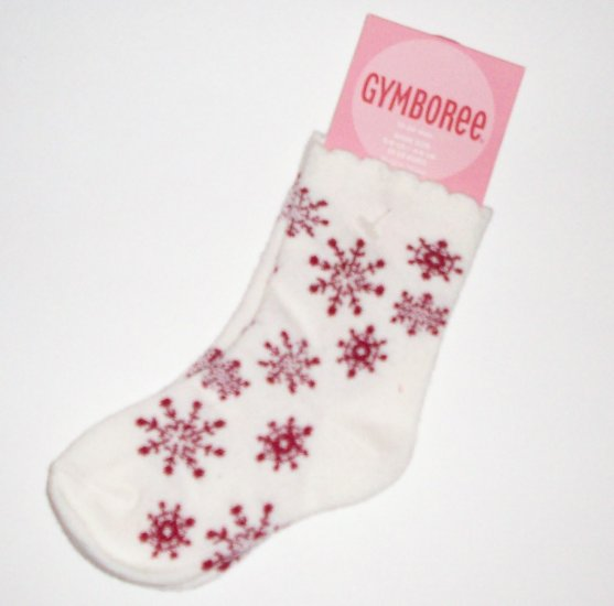 GYMBOREE NWT Mountain Cabin Snowflake Socks 12-24M