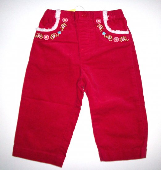 GYMBOREE NWT Colorful Village Red Pants 12-18m