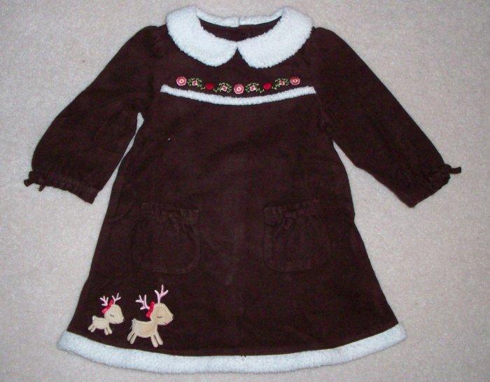 GYMBOREE NWT Colorful Village Brown Dress 18-24m