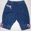 GYMBOREE NWT Sitting Pretty Denim Pants 0-3m