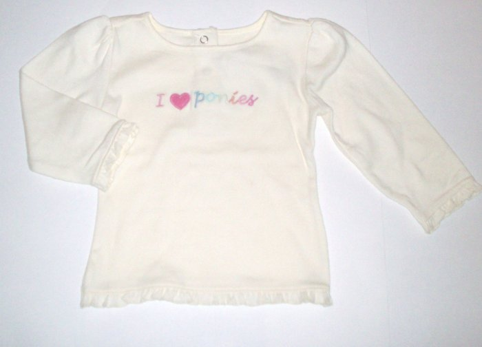 GYMBOREE NWT Park City Luxe Ivory Swing Top 18-24m