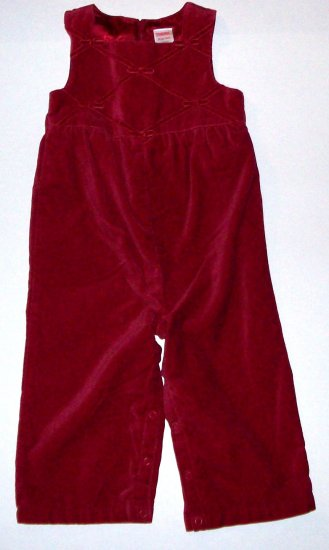 GYMBOREE NWT Holiday Classics Velvet One-Piece 18-24m