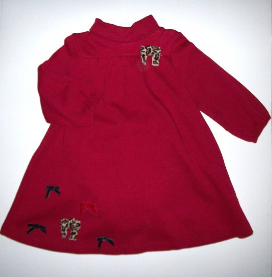 GYMBOREE NWT Glamour Kitty Red Dress 12-18m