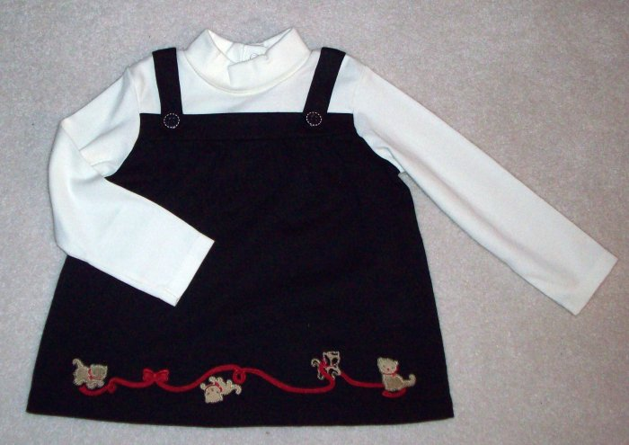 GYMBOREE Glamour Kitty Swing Top NWT 18-24m