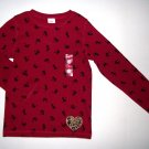 GYMBOREE NWT Glamour Kitty Red Top 6