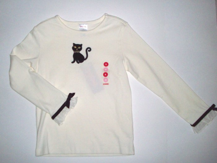GYMBOREE NWT Glamour Kitty Ivory Top Top 6