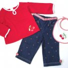 GYMBOREE NWT Good Old Days 3-Piece Set 12-18m