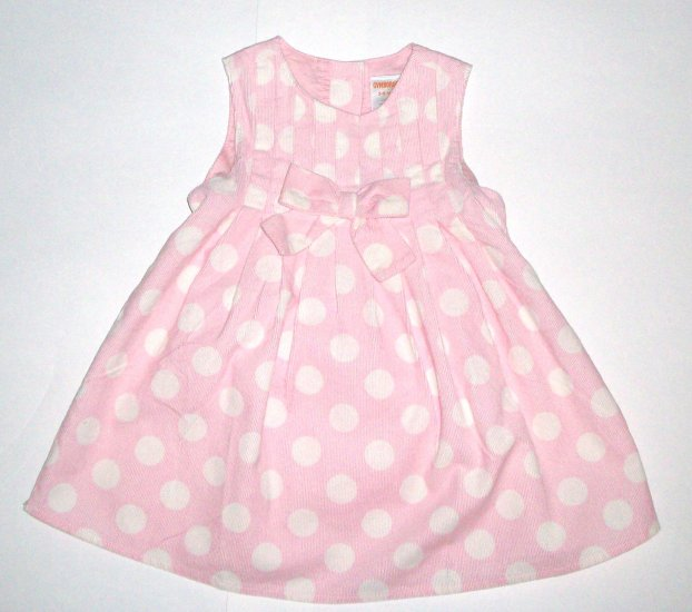 GYMBOREE NWT Little Panda Polka Dot Corduroy Dress 3-6m