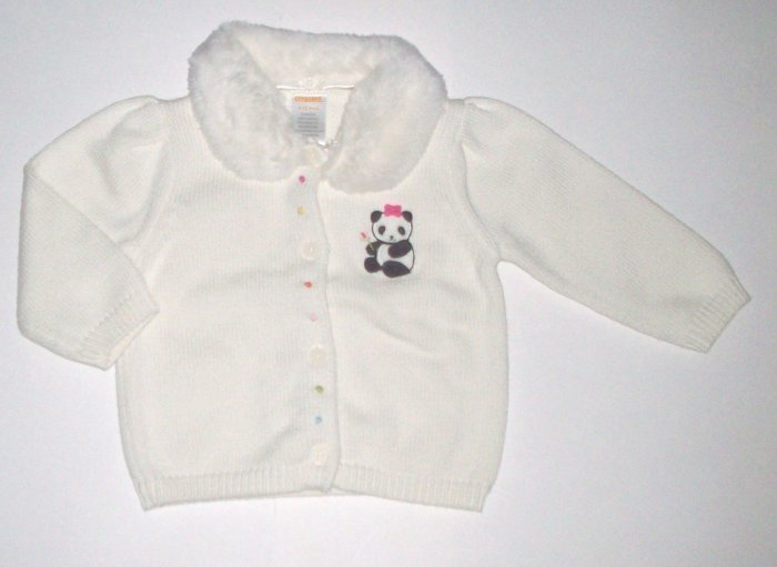 GYMBOREE NWT Little Panda Sweater 6-12m