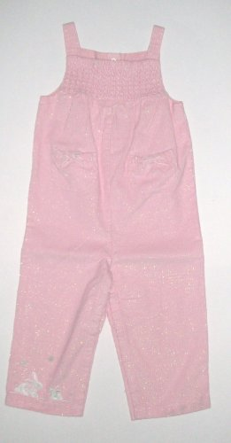 GYMBOREE NWT Snow Princess Pink Overalls 6-12m