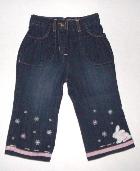 GYMBOREE NWT Snow Princess Denim Jeans 12-18m