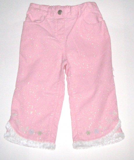 GYMBOREE NWT Snow Princess Pink Corduroy Pants 12-18m