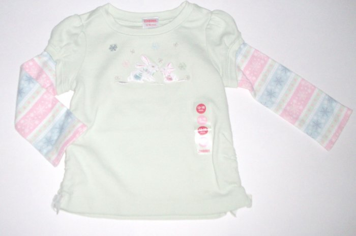 GYMBOREE NWT Snow Princess Bunny Top 12-18m